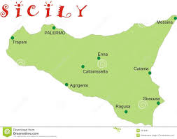 Map Of Italy And Sicily by Map Of Sicily Stock Image Image 3319081