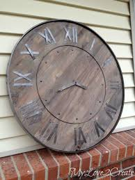 oversized wood wall best 25 large rustic wall clock ideas on large wood