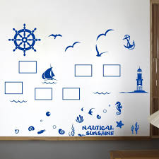 popular sea family buy cheap sea family lots from china sea family mediterranean sea family photo frame diy wall sticker ocean style decal for living room home decor