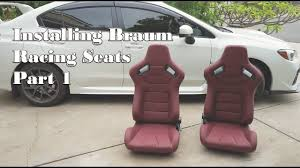2015 wrx sti aftermarket wheel subaru wrx sti 2015 install braum racing seats pt 1 2 youtube