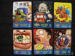 lote 6 cartas trading cards trash pack comprar trading