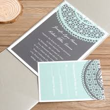 wedding invitations minted mint green lace silver pocket wedding invitations ewpi034 as low