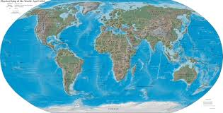 Blank Oceans And Continents Map by Continents And Oceans