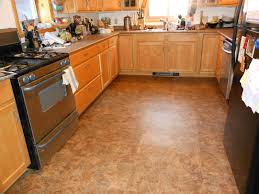 kitchen wood tile floor ideas dark cabinets color schemes