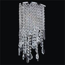 Crystal Wall Sconce by Wall Sconces Crystal Sconce With Assorted Shaped Crystals Red