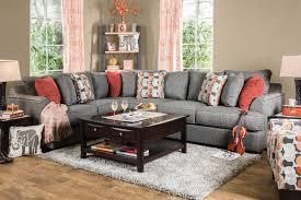 Sofa Set C Shape Furniture Of America Parteena Premium Gray Fabric Sectional