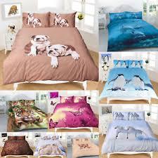 Dog Duvet Covers Duvet Cover Sets 3d Animal Print Bedding Sheets Winter Wild Jungle