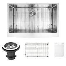 Single Bowl Kitchen Sink Undermount Vigo Farmhouse Apron Front Stainless Steel 33 In Single Basin