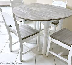 Kitchen Drop Leaf Table Weathered Wood Finished Farmhouse Drop Leaf Table One More Time
