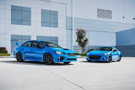 subaru brz black 2015 subaru reveals new series hyperblue variants for sporty brz wrx