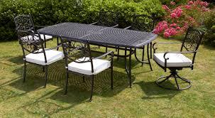 6 Seat Patio Dining Set - royalcraft versailles rectangular 6 seater dining set with 2