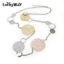 long silver statement necklace images Vintage long statement necklace real gold silver plated round jpeg