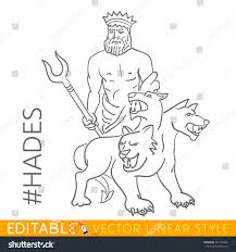 hades god underworld dead series greek stock vector 561318406