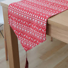 home decor table runner cotton linen vintage red deer rustic home decor table runner size