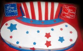 uncle sam u0027s patriotic hat cutout cake feeds 40 three brothers bakery