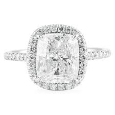 rectangle cushion cut engagement rings ct cushion cut platinum engagement ring