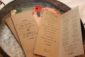 folded wedding program which wedding program format is right for you mywedding