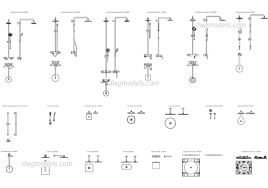 floor plan shower symbol sanitary engineering dwg models free download