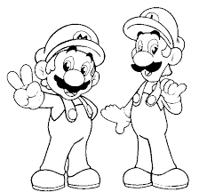 sonic and mario coloring pages 5 nice mario and luigi coloring pages ngbasic com
