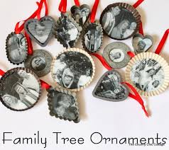 handmade gift family tree ornaments the country chic cottage