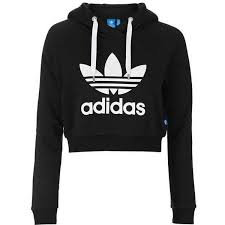 adidas crop top sweater cropped hoodie by adidas originals 60 liked on polyvore