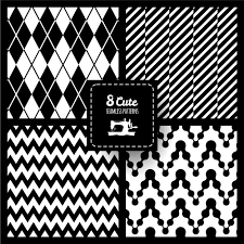 black and white fabric pattern seamless fabric pattern set vector free download