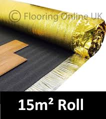 Foam Underlay Laminate Flooring 15m2 Roll Sonic Gold 5mm Acoustic Underlay For Wood Or