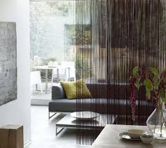 luxury curtain as living room partition home decoration
