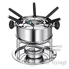2017 cheese fondue chocolate hotpot cooker liquid stove set