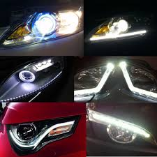 best led daytime running lights best 12w cob aluminum silm 14cm black diy led daytime running light