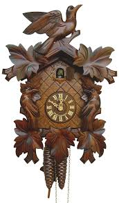 cuckoo clock 8 day movement carved style 34cm by anton schneider