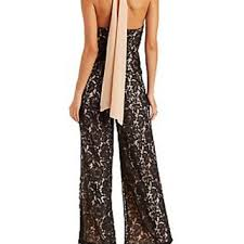 jumpsuit russe mustard seed lace halter jumpsuit from russe
