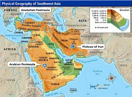 asia map with labels southwest asia physical map search map
