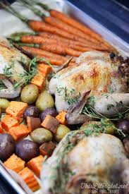one pan meals stuffed cornish hens roasted vegetables this lil