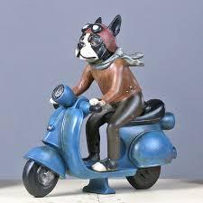 creative resin retro cool ride motorcycle ornaments