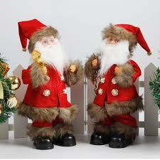 electric santa claus ornaments singing plush