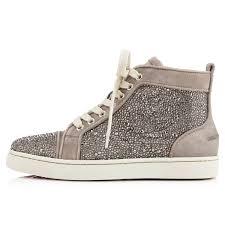 boot louboutin women sneakers louis w flat veau veloursstrass