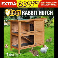 Rabbit Hutch With Detachable Run Hutch Rabbit Hutches Ebay