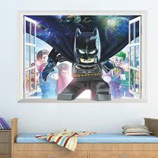 batman home decor cartoon hero batman broken wall home decor wall sticker for kids