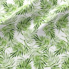 White Flag With Green Leaves Green Palm Leaves Fabric Gribanessa Spoonflower