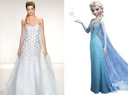 elsa wedding dress elsa from alfred angelo s disney princess wedding gowns e news