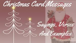 christmas card messages u2013 sayings verses and examples