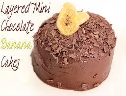 layered mini chocolate banana cakes sundaysupper big bear u0027s wife