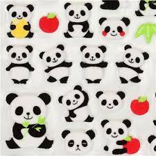 apple japan cute felt sticker with panda bears apple japan sticker sheets
