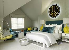 eclectic style bedroom with neutral walls and peacock green