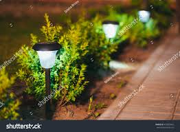 flower pot solar light decorative small solar garden light lanterns stock photo 472855663