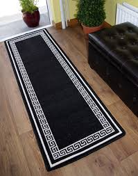 Black White Runner Rug Long Rug Runners Rugs Decoration