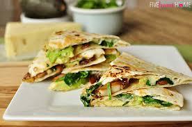 Home Dinner Ideas Spinach U0026 Mushroom Quesadillas With Avocado U0026 Pepper Jack