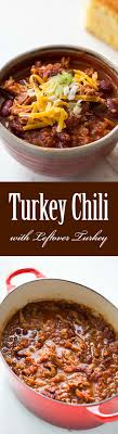 turkey chili with leftover turkey great for thanksgiving