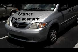 mazda mpv starter replacement auto repair series youtube